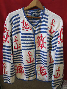 Woman S Maritime Size S Hand Knitted Nautical Sweater