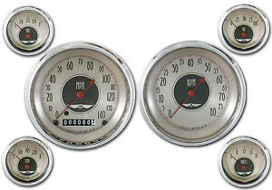 Classic Instruments All American Nickel Series 6 Gauge Set An51slc Speedo Tach