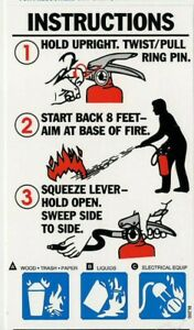 Lot Of 5 abc Fire Extinguisher Pictorial Operating Sign s 3 X 5 1 4 New