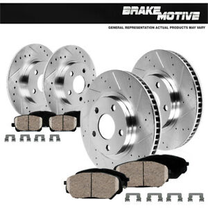 Front Rear Drill Slot Brake Rotors Ceramic Pads 2003 2004 2007 Honda Accord