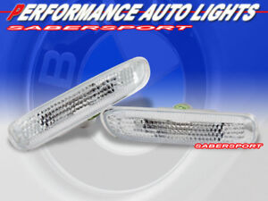 Clear Side Marker Lights For 99 01 Bmw E46 4dr 00 03 E46 Coupe Convertible
