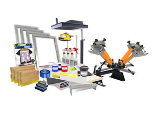 Screen Printing Press Kit Starter Diy Flash Dryer Exposure Unit Equipment Press