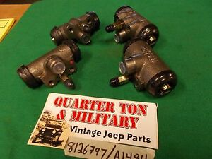 Brake Wheel Cylinder Set Fits 41 68 Mb M38 Cj2a Cj3a M38a1 Gpw Willys Jeep