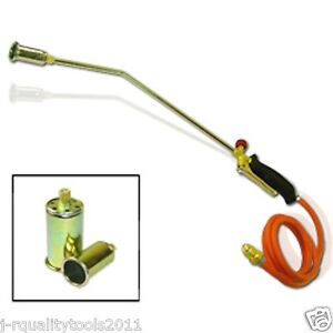 Propane Torch W 2 Extra Nozzle Ice Melter Weed Burner