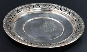 Wallace Sterling Silver Round Platter Marked 4410 3 287 Gr Plates