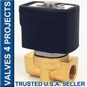 1 4 Electric Solenoid Valve Brass Viton fkm 12v Dc Air Gas Diesel B20v