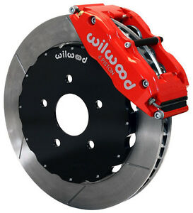 Wilwood Disc Brake Kit front 2006 2012 Honda Civic cr z 13 Rotors red Calipers