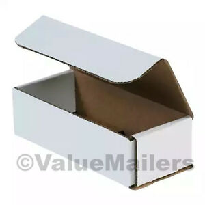 100 7 X 4 X 2 White Corrugated Shipping Mailer Packing Box Boxes