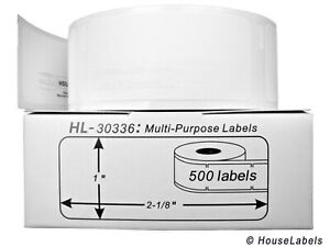40 Rolls Of 500 Multipurpose Labels In Cartons For Dymo Labelwriters 30336