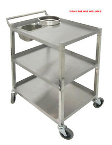 Stainless Steel Bus Cart 250lbs Cap Knock down Etl Listed C 31k2 All Purpose