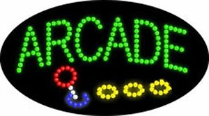 Open Led Sign arcade Open Games 21 x12 Prizes Business Animated Bright Flash