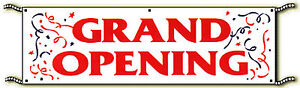 Grand Opening Vinyl Outdoor 3ft X 10ft Banner Sign Free Same Day Ship
