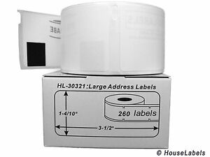 100 Rolls Of 260 Lg Address Labels In Mini cartons For Dymo Labelwriter 30321