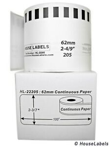100 Dk 2205 Replacement Rolls Compatible W Brother