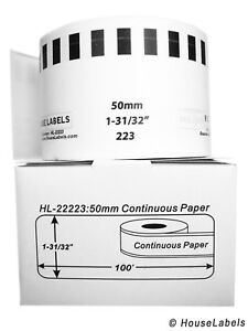Non oem Fits Brother Dk 2223 Continuous Labels 1 31 32 X 100 Feet 4 Rolls