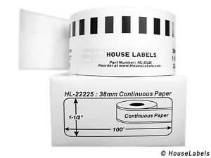 Non oem Fits Brother Dk 2225 Continuous Labels 1 1 2 X 100 Feet 1 Roll