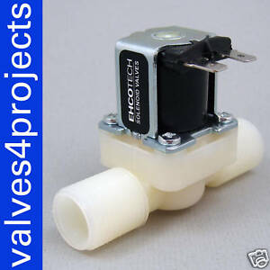 1 2 Gravity Feed Electric Solenoid Valve 12 volt Ddt cd 12vdc Plastic Body N c