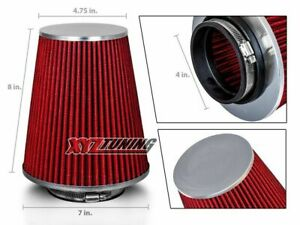 4 Inches 4 102 Mm Cold Air Intake Cone Truck Replacement Filter Red Dodge