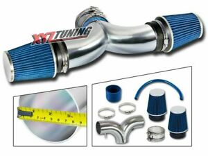 3 5 Blue Dual Twin Air Intake Induction Kit Filter For 97 00 Corvette 5 7l V8