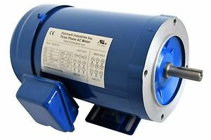 Ac Motor 1hp 3450 Rpm 3ph 208 230v 460v 56c tefc With Base