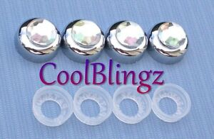 Crystal Ab Rhinestone Screw Caps Covers For Diamond Bling License Plate Frame