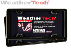 Weathertech Clearframe License Plate Frame 2 pack Black