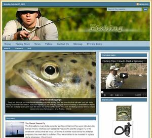 fishing Turnkey Website For Sale turnkeypages