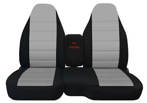 98 03 Ford Ranger 60 40 High Back Car Seat Covers Black Silver More Colors