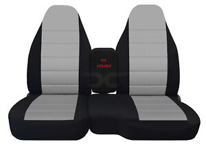 Car Seat Covers Blk silver Fits 98 03 Ford Ranger 60 40 High Back Seats