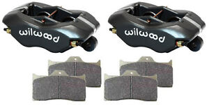 Wilwood Forged Dynalite Brake Calipers pads 1 10 Disc 1 75 street Strip hot Rod