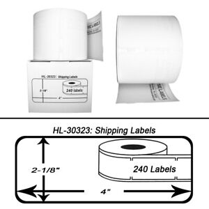 50 Rolls Of 240 Large Shipping Labels For Dymo Labelwriters 30323 30573