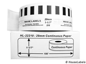 12 Rolls Of Dk 2210 Brother compatible continuous Labels bpa Free