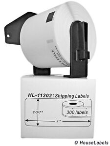 10 Rolls Of Dk 1202 Brother compatible Shipping Labels With 1 Reusable Cartridge