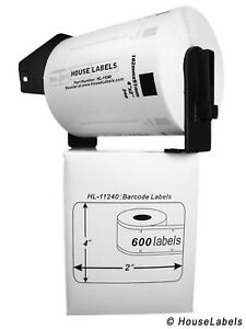 6 Rolls Of Dk 1240 Brother compatible Barcode Labels With 1 Reusable Cartridge
