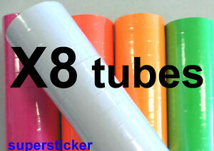 White Price Tags For Mx 6600 2 Lines Gun 8 Tubes X 11 Rolls X 500