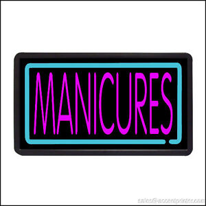 Manicures Backlit Illuminated Electric Window Sign 13 x24