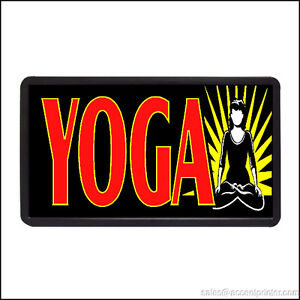 Yoga Backlit Illuminated Electric Window Sign 13 x24