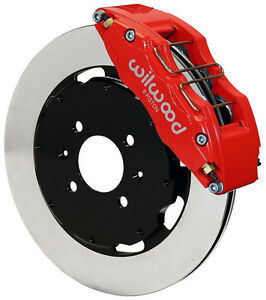 Wilwood Disc Brake Kit Front Honda 10735 12 Rotors 6 Piston Red Calipers