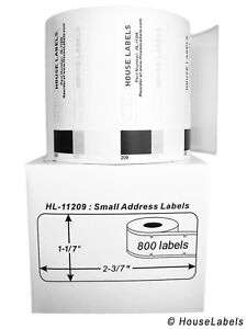 Non oem Fits Brother Dk 1209 Labels 1 1 7 X 2 3 7 6 Rolls Of 800