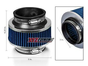 3 3 Inches Cold Air Intake Bypass Valve Air Filter 76 Mm Blue For Hyundai