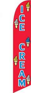 Ice Cream Feather Advertising Flags Banner Signs
