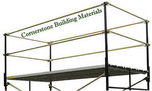 A Set New Fall Protection 5 X 7 Commercial Scaffolding Guard Rail System Cbm