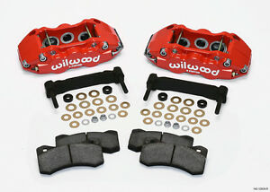Wilwood Caliper Pad Bracket Kit Front 97 12 Corvette C 5 C 6 Z06 Red