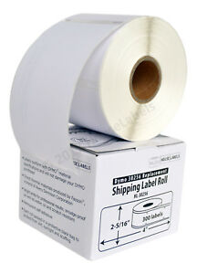 6 Rolls Of 300 Removable Large Shipping Labels For Dymo Labelwriters 30256 R