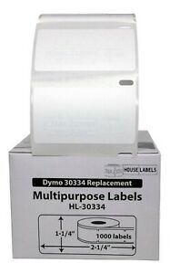 50 Rolls Of 1 000 Medium Multipurpose Labels For Dymo Labelwriters 30334