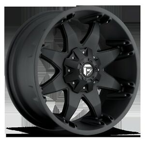 Fuel Offroad Octane Black 20x12 Chevy Jeep Dodge Ford