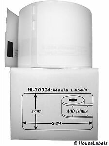 12 Rolls Of 400 Media badge Labels In Cartons For Dymo Labelwriters 30324