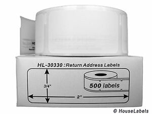 8 Rolls Of 500 Return Address Labels In Cartons For Dymo Labelwriters 30330