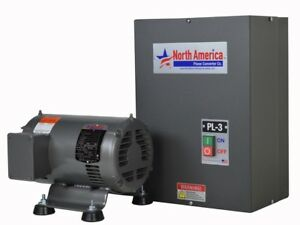 Pl 3 Pro line 3hp Rotary Phase Converter Built in Starter Made In Usa