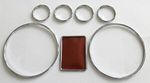 Audi A4 B5 A6 C5 A3 8l High Quality Snap On Chrome Color Gauges Rings